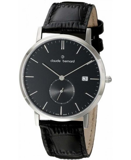 Claude Bernard Classic Date Small Second 65003-3-NIN