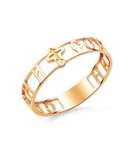 Кольцо Спаси и Сохрани из золота 585 пробы АЛМ-16