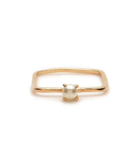 Square Pearl Ring