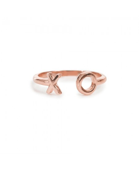 XO Open Ring- Rose Gold