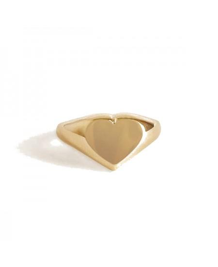 Kinn studio Classic Heart Signet Ring rg-kinn30