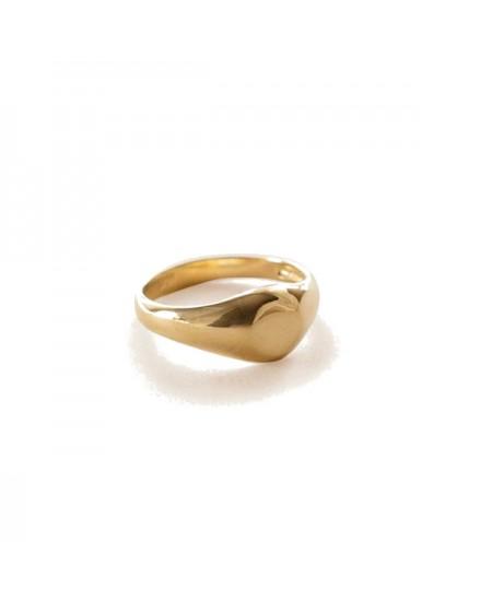 Kinn studio Medium Signet Ring rg-kinn34