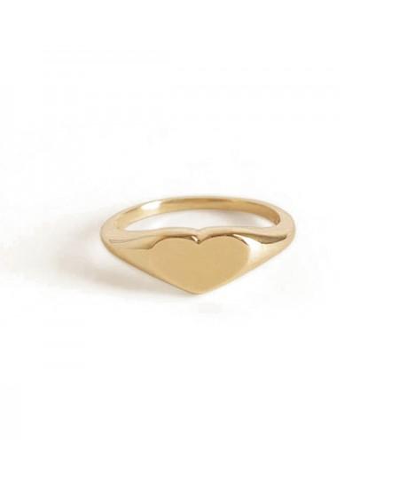 Kinn studio Petite Heart Signet Ring rg-kinn31