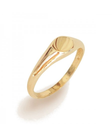 Kinn studio Petite Signet Ring rg-kinn33