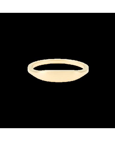 MEJURI Slim Signet Ring rg-meju46