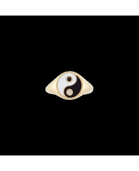 MEJURI Yin Yang Pinky Ring rg-meju71